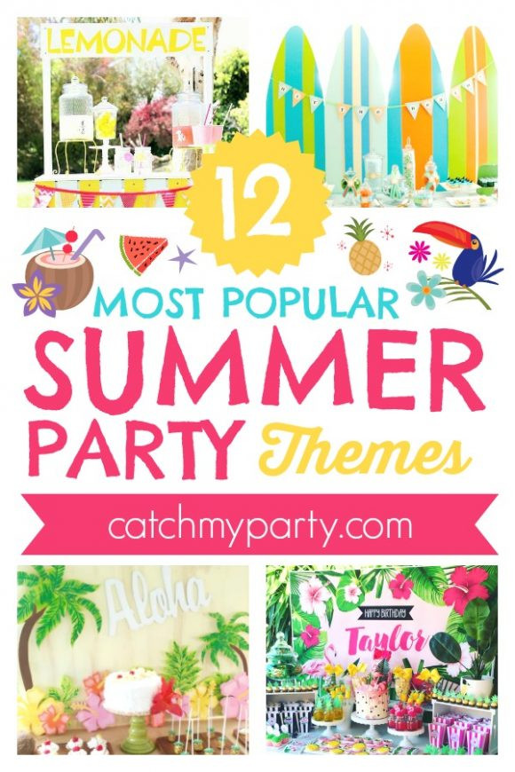 Summer Theme Party Ideas  12 Most Popular Summer Party Themes