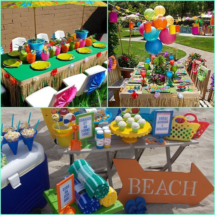 Summer Theme Party Ideas  beach theme party for kids at AllHome