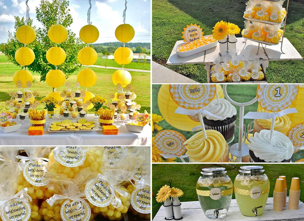 Summer Theme Party Ideas  sunflower party theme party ideas party favors parties