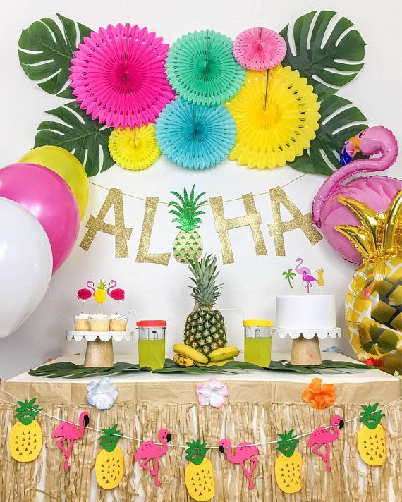 Summer Theme Party Ideas  Tropical Party Luau Party Hawaiian Party Theme Summer