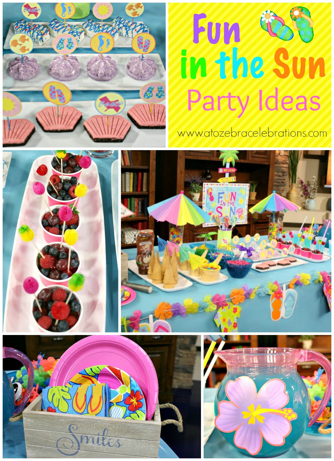Summer Theme Party Ideas  Summer Party Ideas – A to Zebra Celebrations