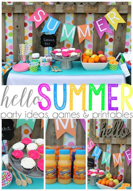 Summer Theme Party Ideas  Hello Summer Party Ideas Games & Printables