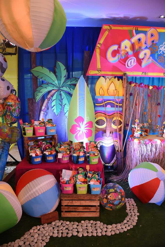 Summer Theme Party Ideas  Kara s Party Ideas Olaf s Tropical Summer Birthday Party