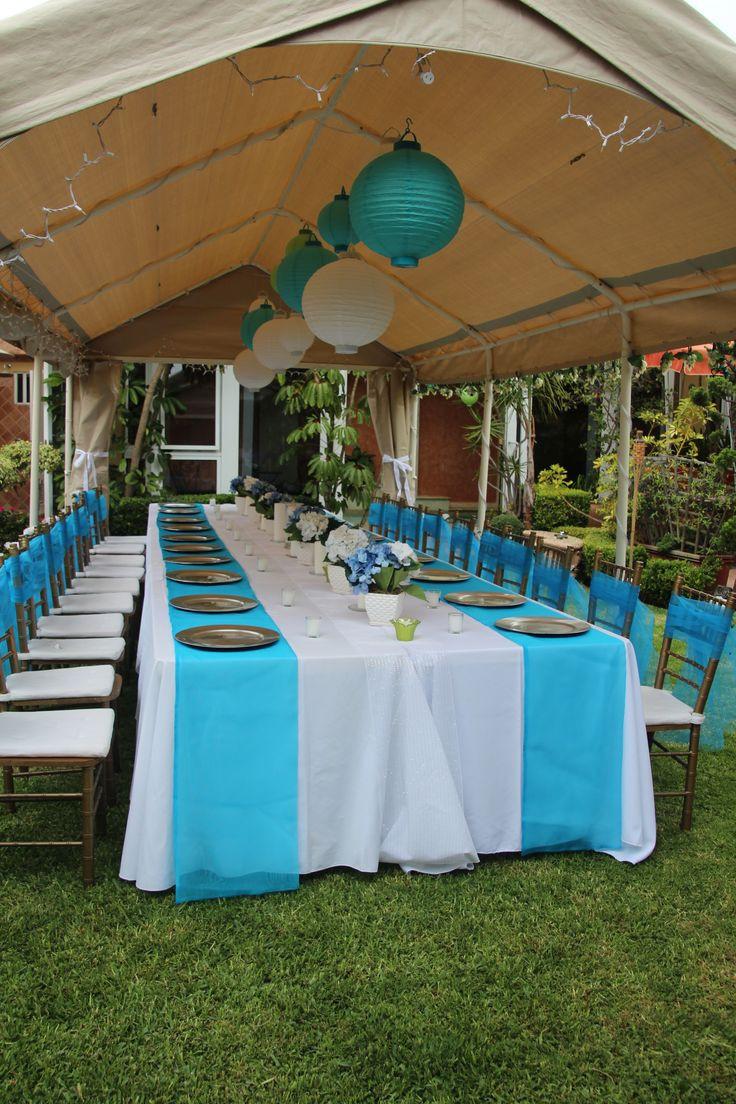 Sweet Sixteen Backyard Party Ideas  cheap baby shower chair decorating ideas