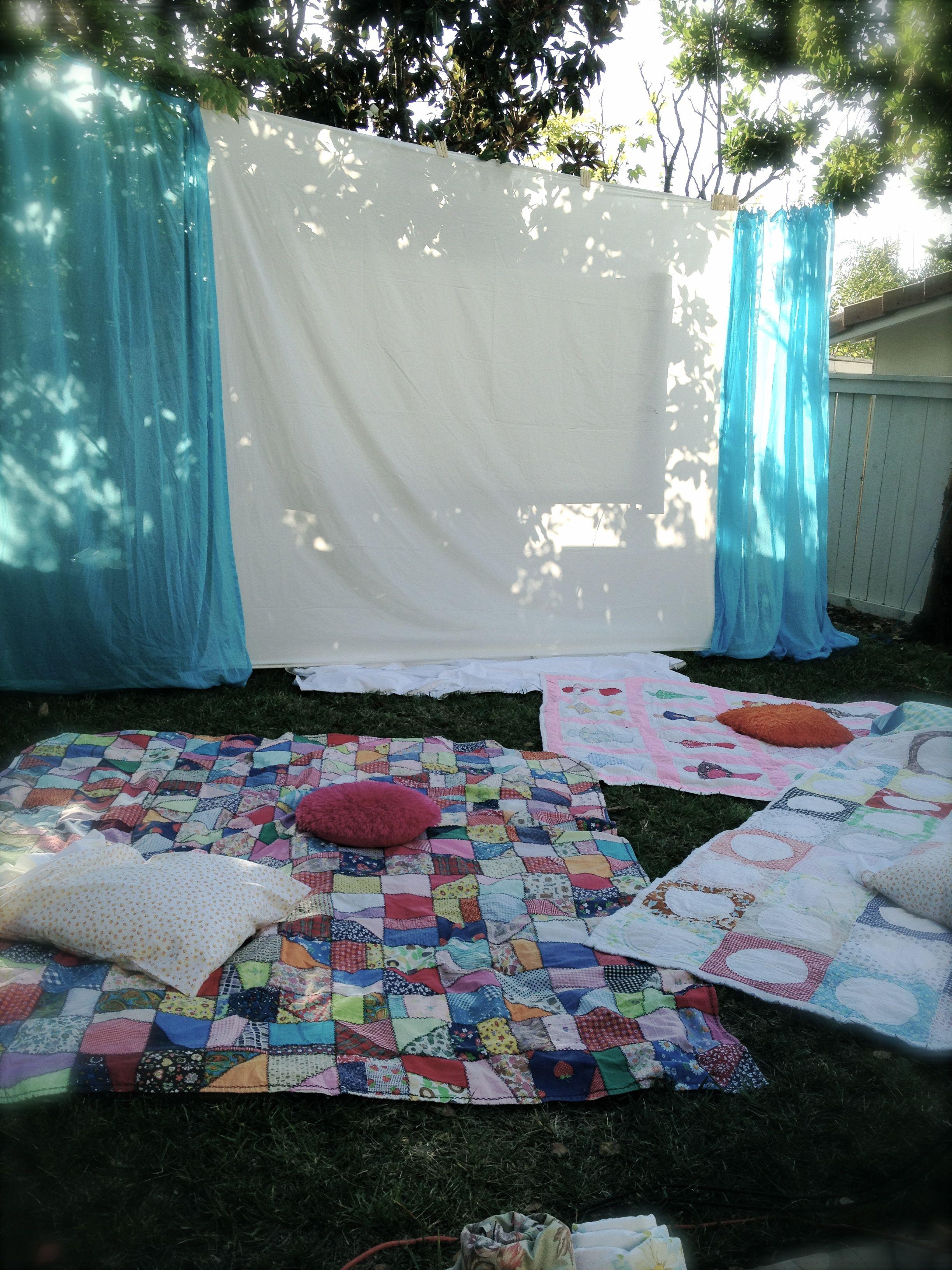 Sweet Sixteen Backyard Party Ideas  Sweet Sixteen Backyard Movie Night now if only my