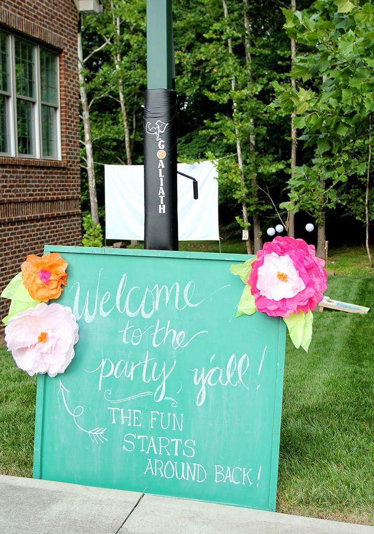 Sweet Sixteen Backyard Party Ideas  25 best ideas about Outdoor Sweet 16 on Pinterest