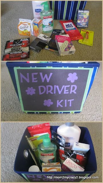 Sweet Sixteen Gift Ideas For Girls  Sweet 16 Gift New Driver Kit for when my sister finally