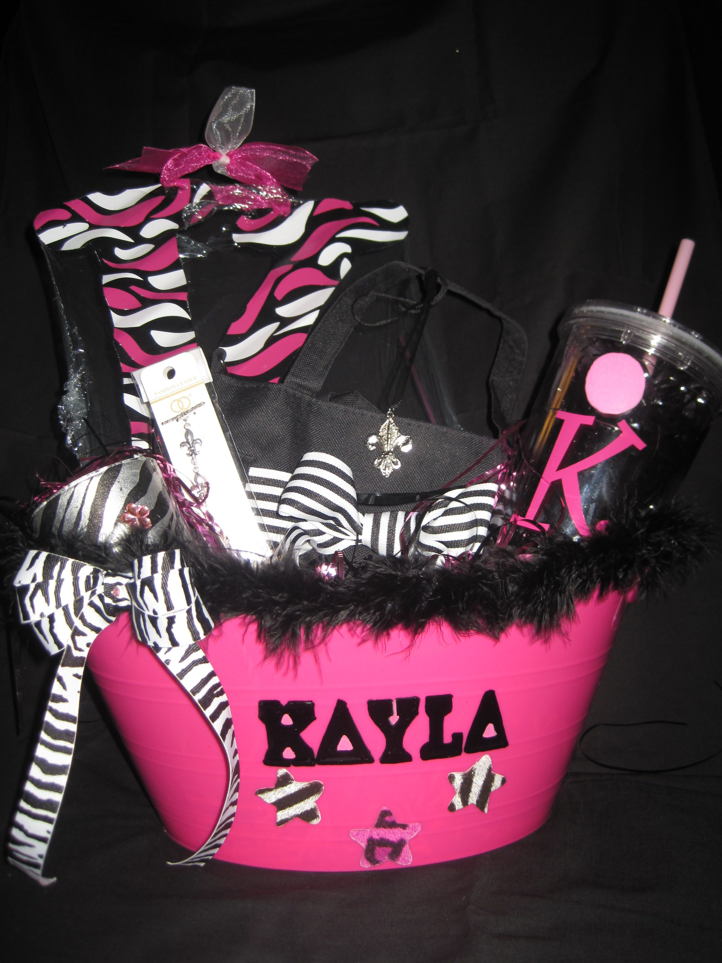 Sweet Sixteen Gift Ideas For Girls  Sweet 16 Birthday Basket t idea for your friends