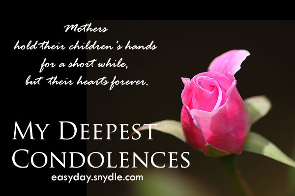 Sympathy Quotes For Loss Of Mother  Deepest Condolences Messages for Cards and Flowers Easyday