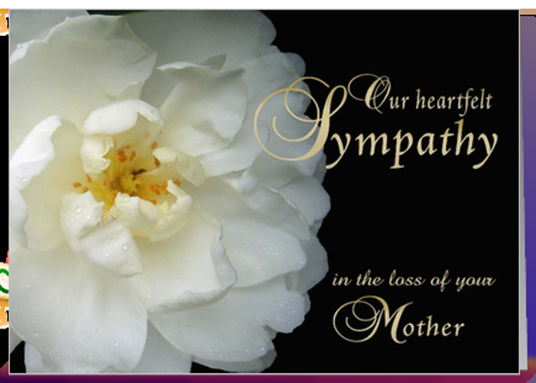 Sympathy Quotes For Loss Of Mother  Our Condolences to the Koerber Family