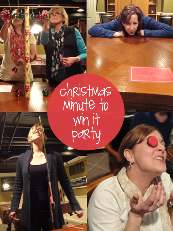 Team Holiday Party Ideas  Christmas Minute to Win it Party