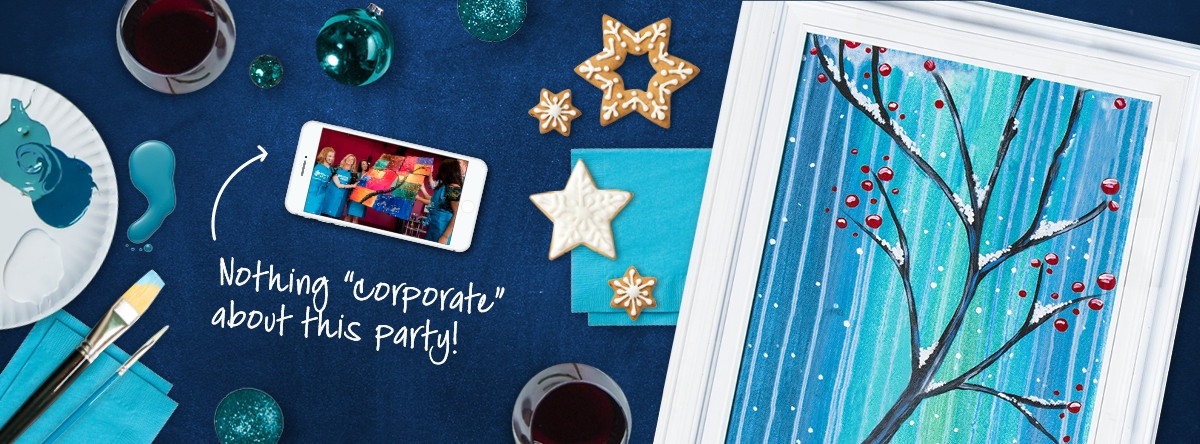 Team Holiday Party Ideas  Team Building Holiday Party Ideas Pinot s Palette