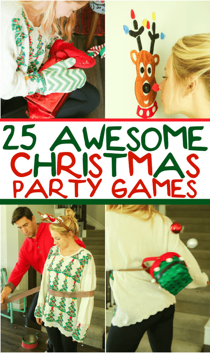 Team Holiday Party Ideas  25 Hilarious Christmas Games for Kids & Adults Play