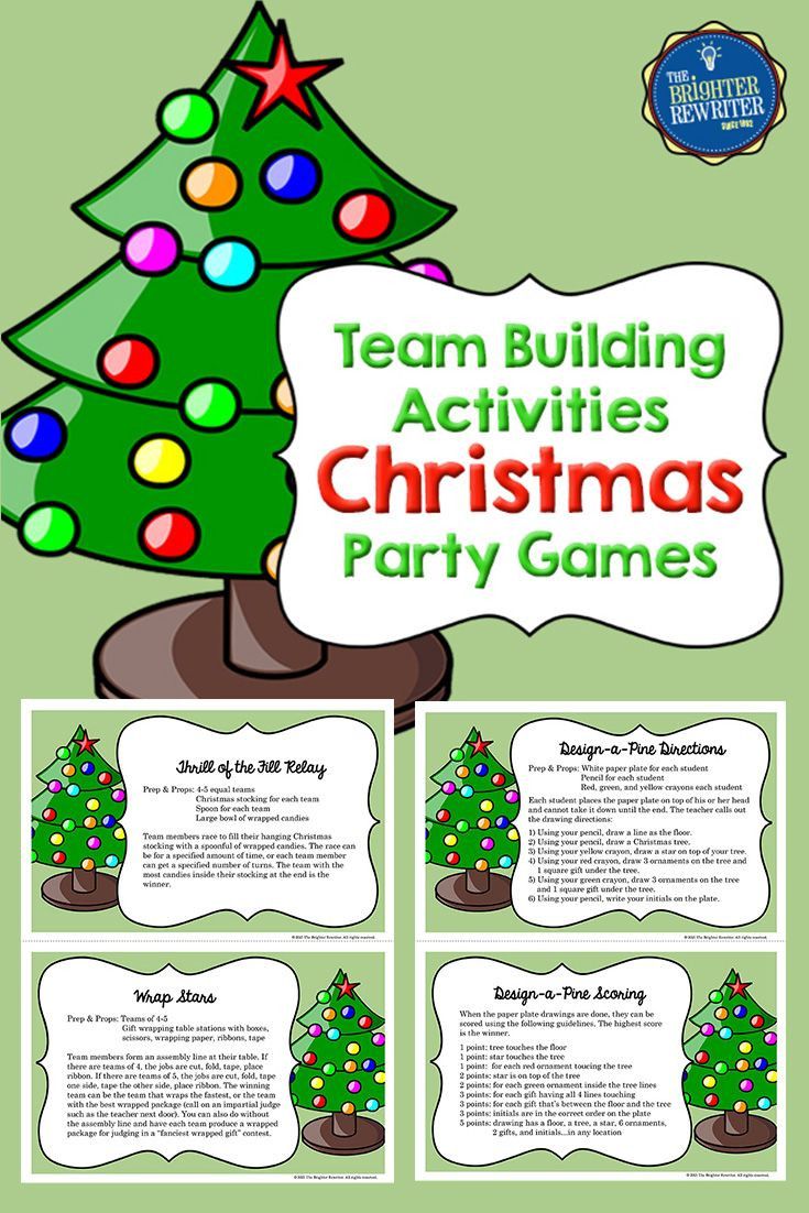 Team Holiday Party Ideas  These Christmas Activities are great for team building and