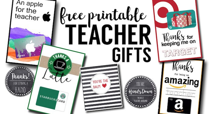 Thank You Gift Card Ideas  Free Printable Teacher Thank You Cards Ideas Paper Trail