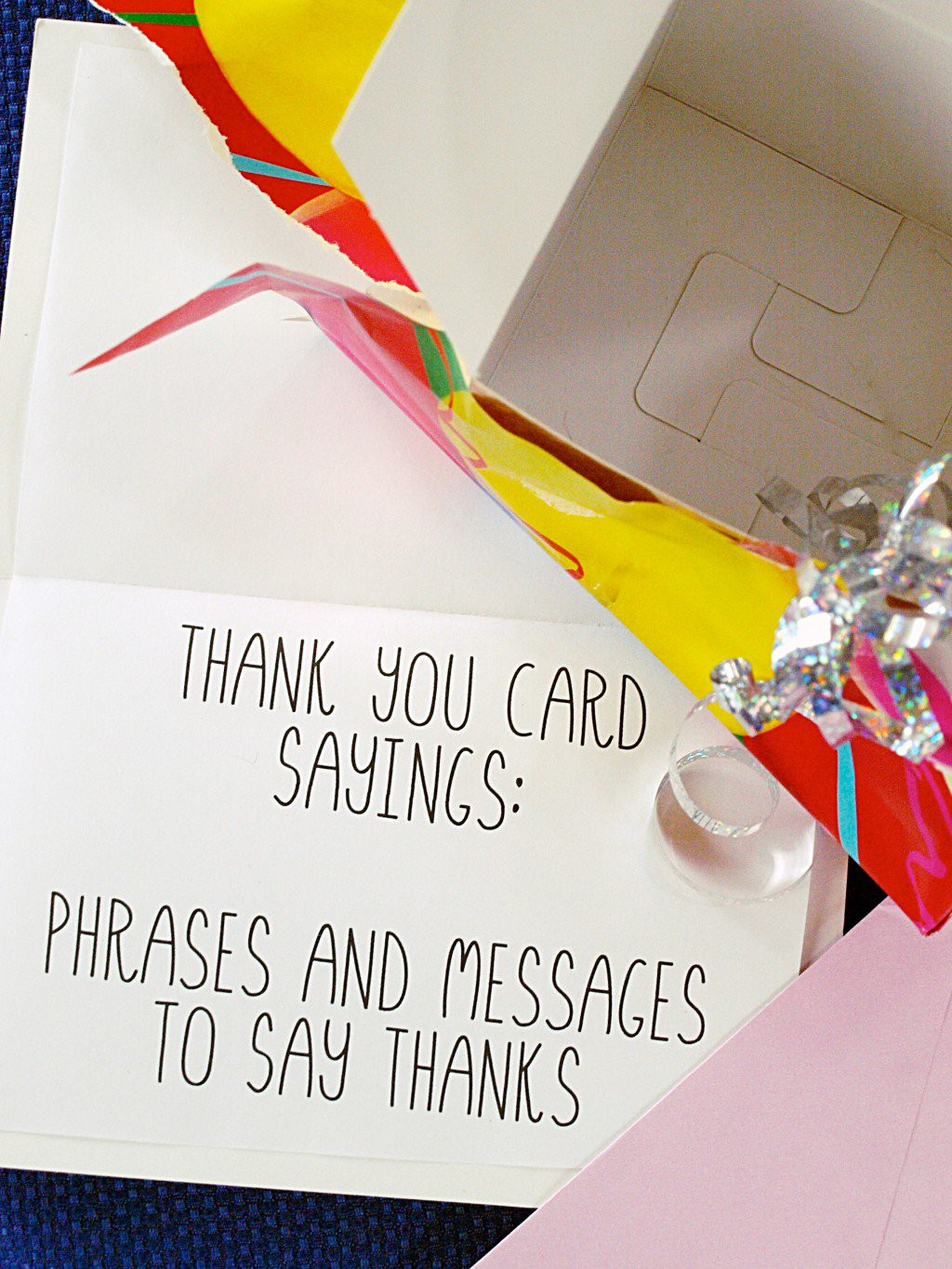 Thank You Gift Card Ideas  Thank You Card Sayings Phrases and Messages