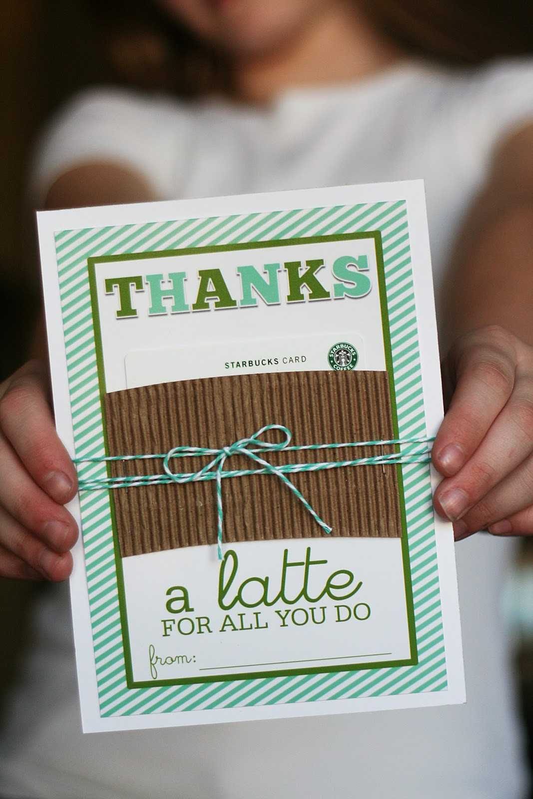 "Thank You Gift Card Ideas  Printable Thanks ""a latte"" Gift Card Holder Teacher"