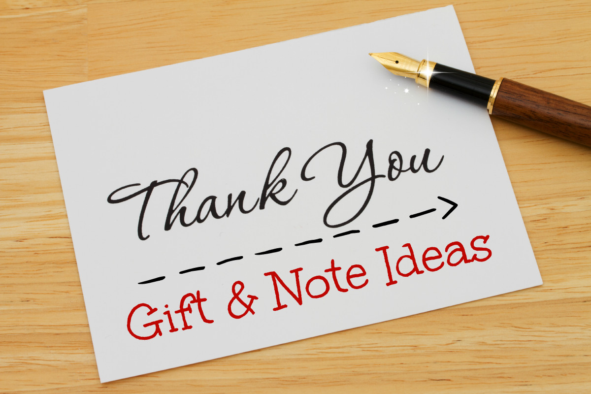 Thank You Gift Card Ideas  Thank You Gift & Note Ideas AA Gifts & Baskets Blog