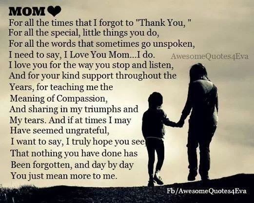Thank You Mother Quotes  Mom quote Quotes Pinterest