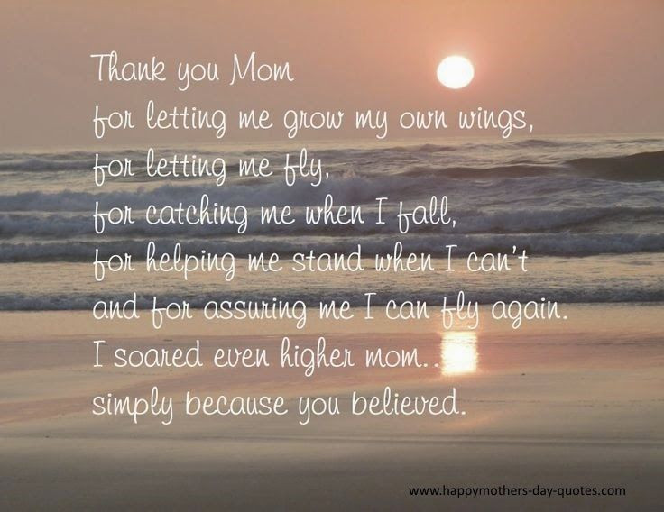 Thank You Mother Quotes  1000 Thank You Mom Quotes on Pinterest