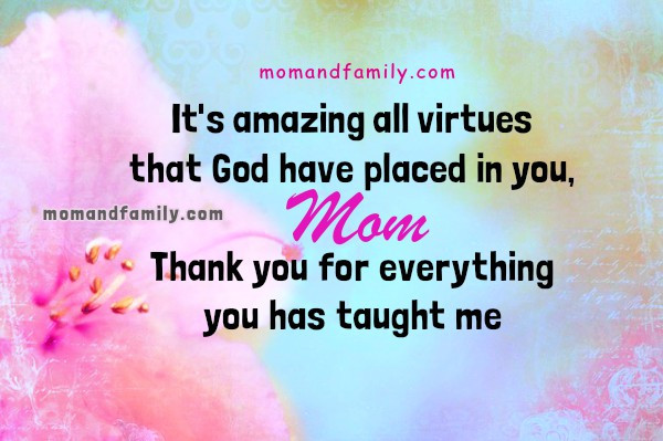 Thank You Mother Quotes  Mom and Family Love April 2016