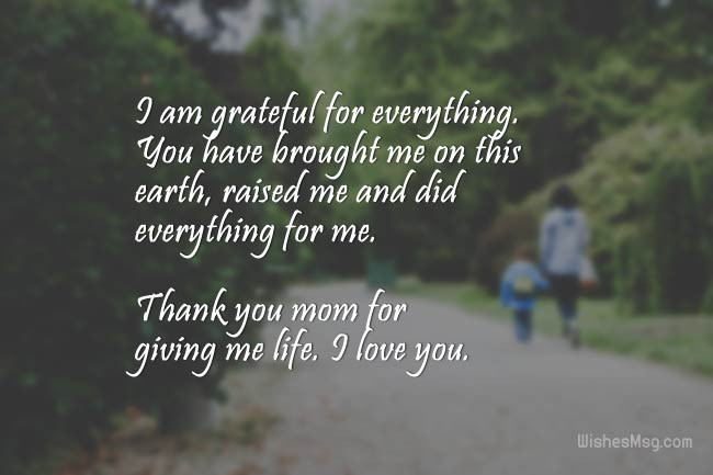 Thank You Mother Quotes  Thank You Message For Mom Sweet Thank You Mom Quotes