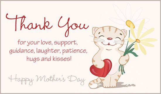 Thank You Mother Quotes  Mother s Day Greeting Cards