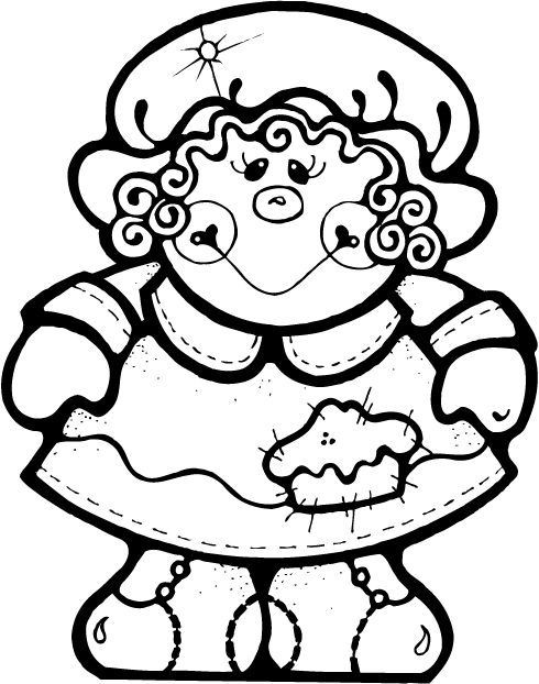 Thanksgiving Pilgrim Girl Coloring Pages  50 Best images about COLORING PAGES on Pinterest