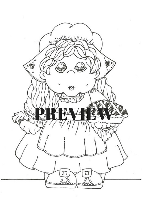 Thanksgiving Pilgrim Girl Coloring Pages  Printable Coloring Page Thanksgiving Pilgrim Girl