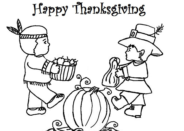 Thanksgiving Pilgrim Girl Coloring Pages  Happy Thanksgiving Coloring Pages For Kids