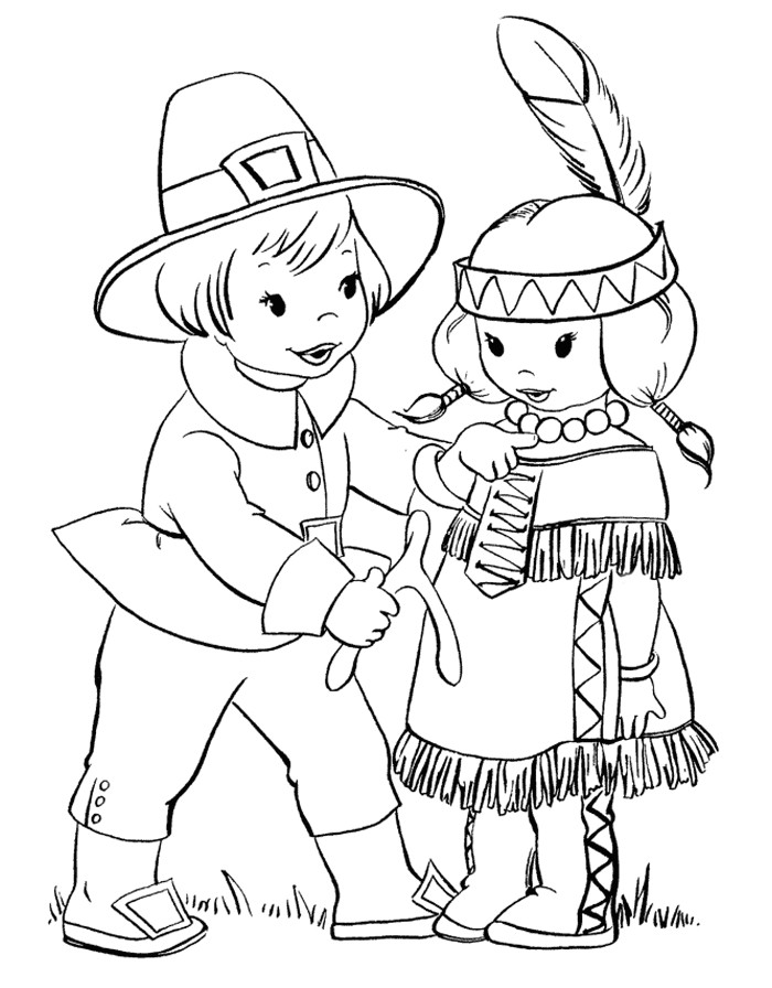 Thanksgiving Pilgrim Girl Coloring Pages  Thanksgiving Coloring Pages