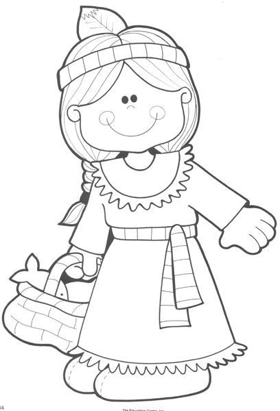 Thanksgiving Pilgrim Girl Coloring Pages  25 best ideas about Thanksgiving coloring pages on