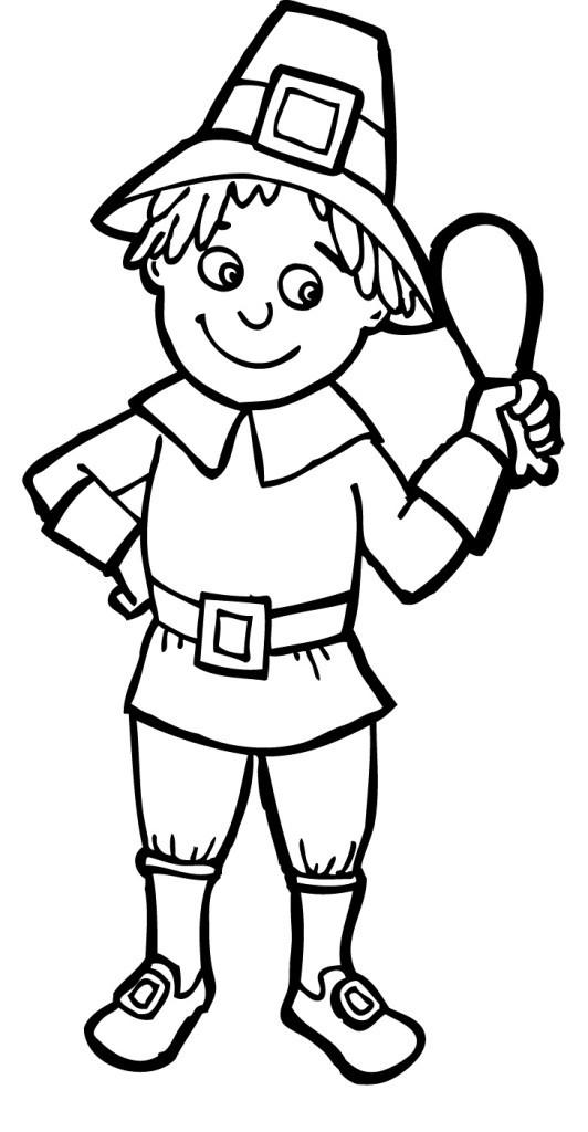 Thanksgiving Pilgrim Girl Coloring Pages  Free Thanksgiving Pilgrim Download Free Clip Art