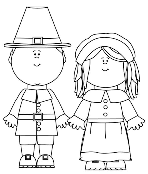 Thanksgiving Pilgrim Girl Coloring Pages  Free Printable Pilgrim Coloring Pages for Kids Best