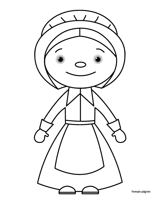 Thanksgiving Pilgrim Girl Coloring Pages  Thanksgiving Coloring Pages Gift of Curiosity