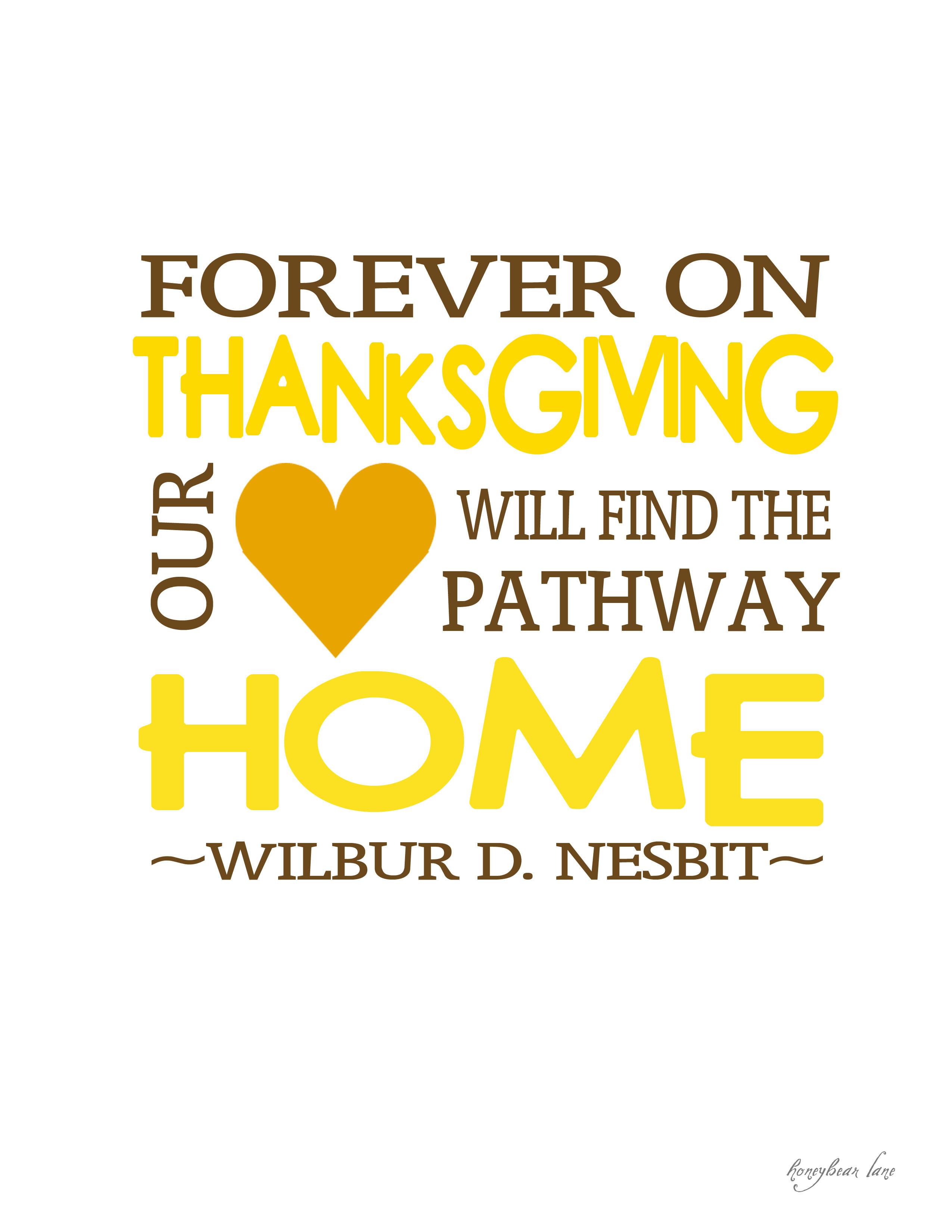 Thanksgiving Quotes  Giving Thanks Thanksgiving Printables HoneyBear Lane