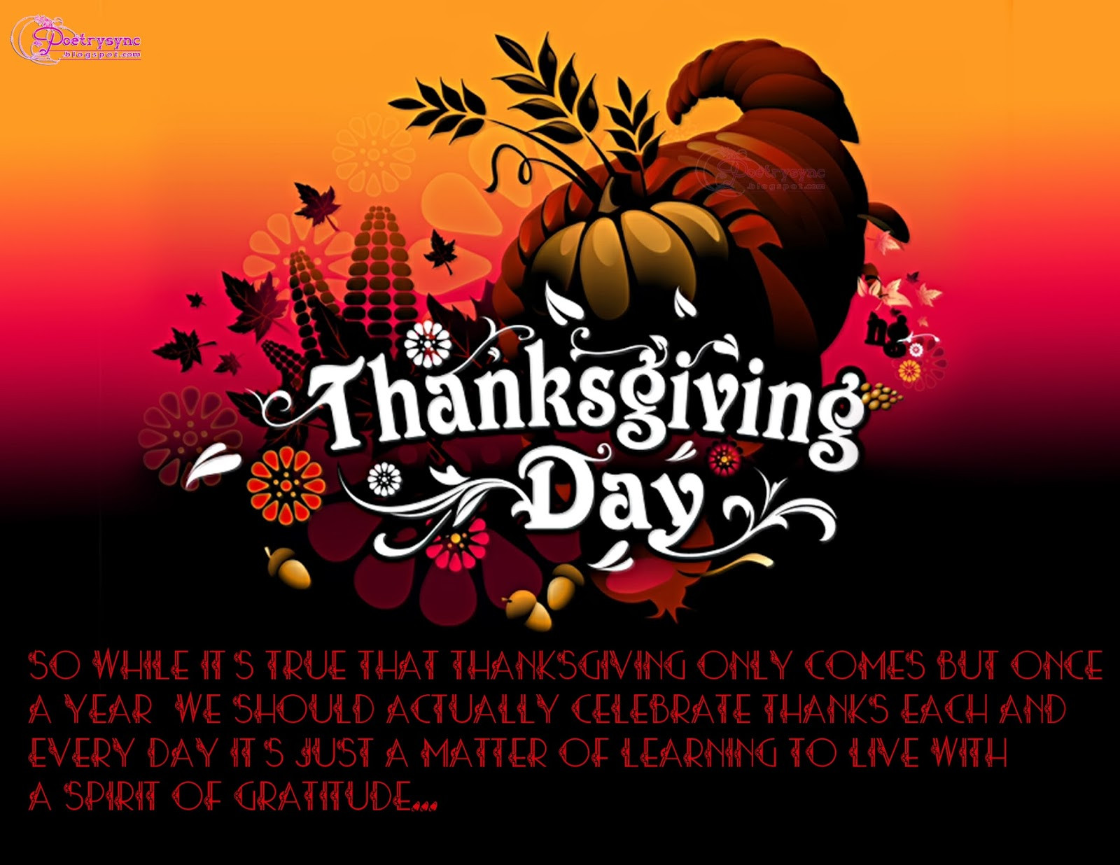 Thanksgiving Quotes For Kids  Thanksgiving day Quotes QuotesGram