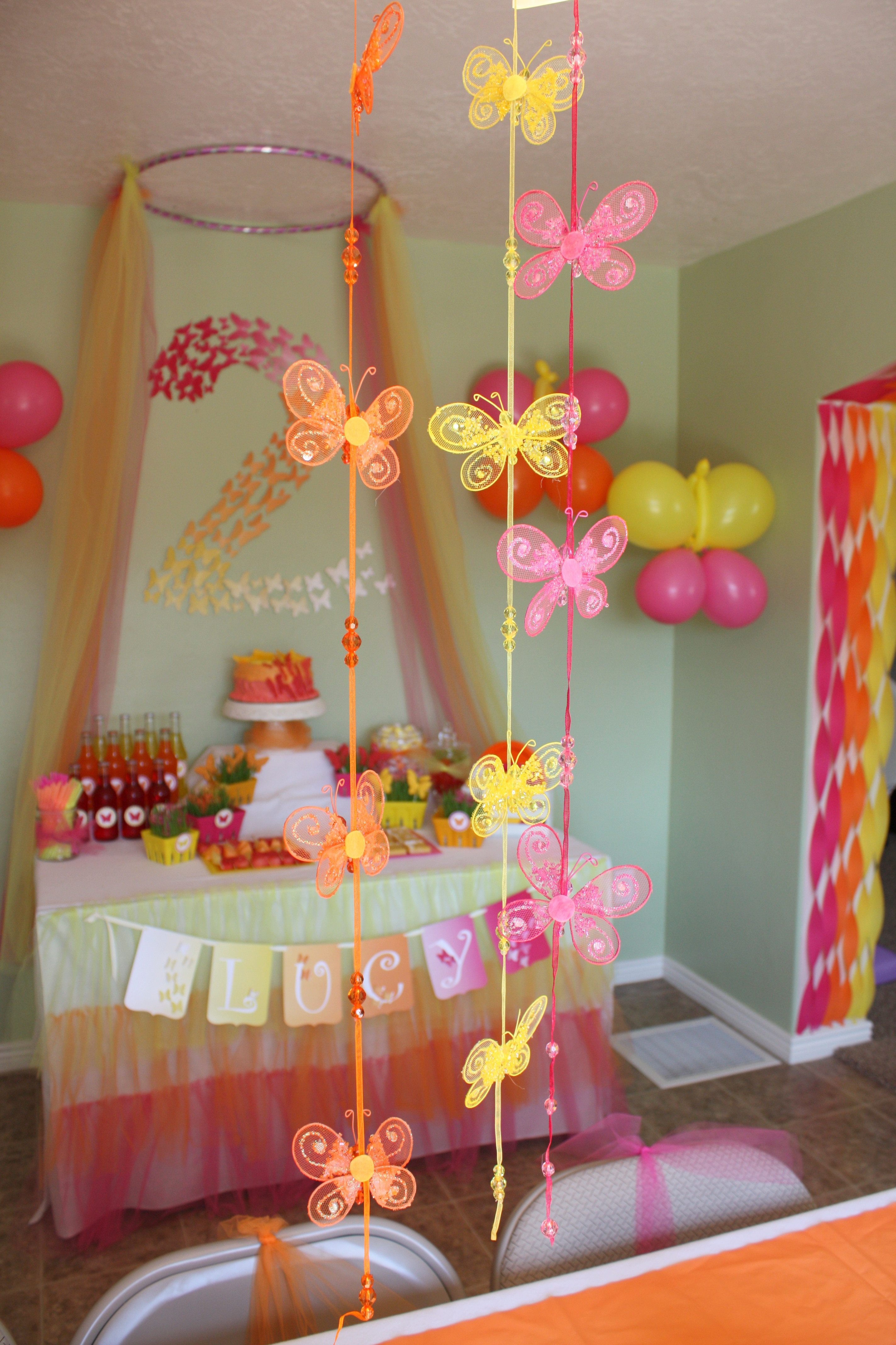 The Birthday Party  Butterfly Themed Birthday Party Decorations events to