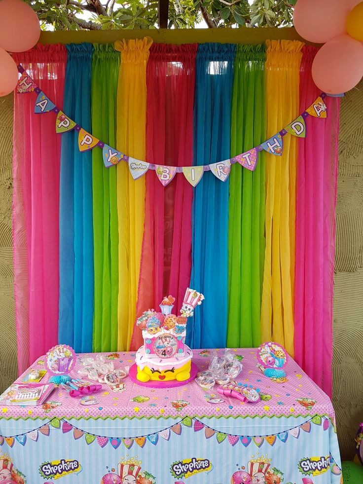The Birthday Party  Pin by Rose Wines Arellano on Shopkins party ideas