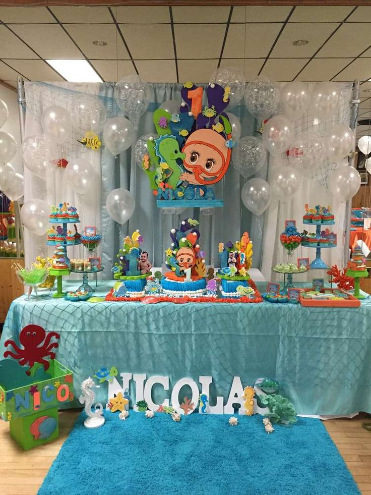 The Birthday Party  Amazing dessert table at an under the sea birthday party