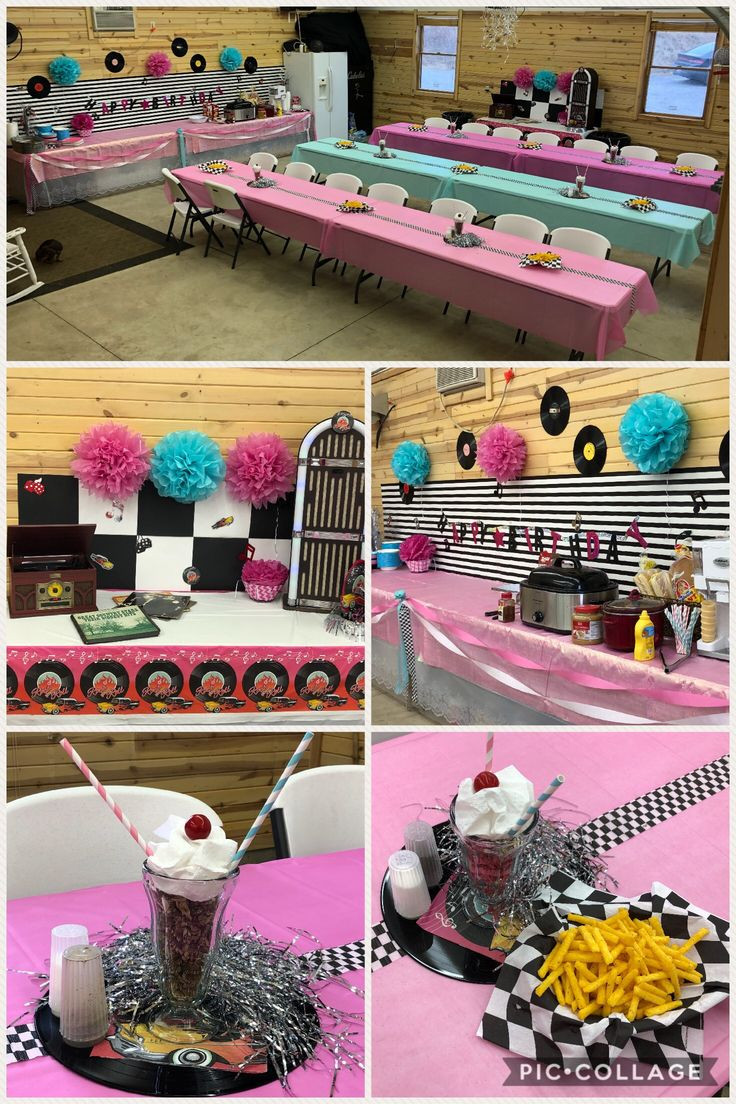 The Birthday Party  50's themed birthday party ideas