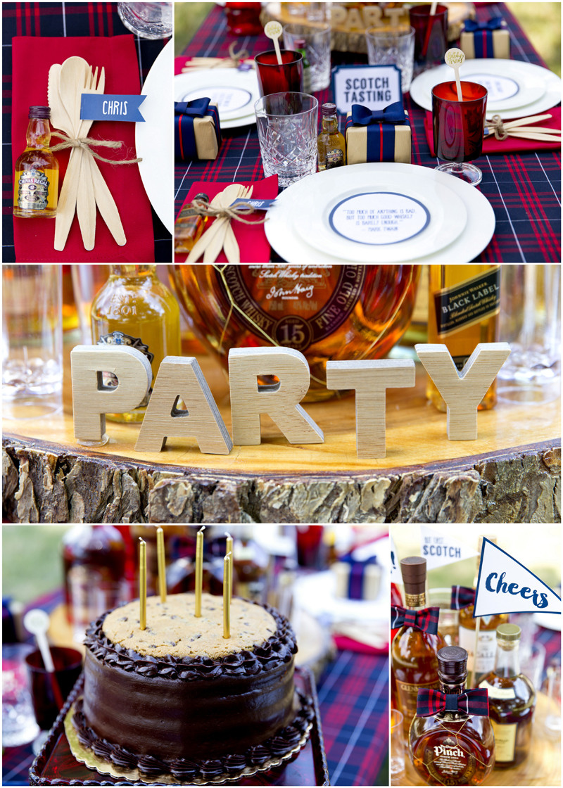 The Birthday Party  A Dapper Scotch Themed Birthday Party