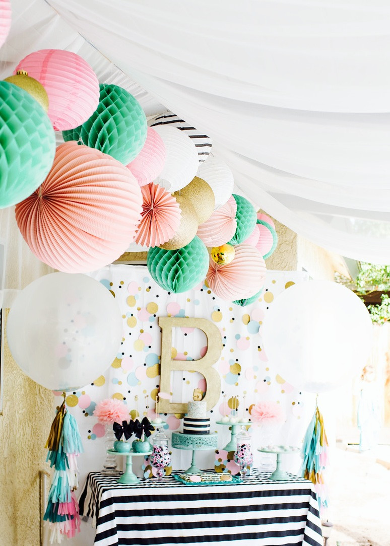 The Birthday Party  Cue the Confetti Modern & Bright Birthday Party