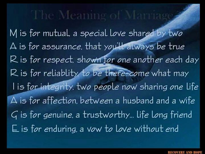 The Meaning Of Marriage Quotes  The Meaning Marriage Quotes QuotesGram