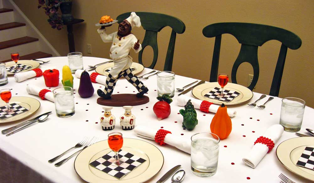 Themed Dinner Party Ideas For Adults  Decorating Ideas For A Chefs Dinner Theme Party