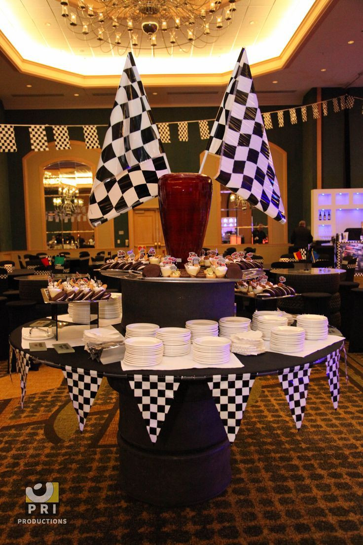 Themed Dinner Party Ideas For Adults  Checkered pennant banner for a race or nascar themed