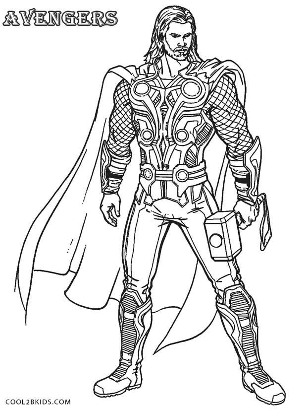 Thor Coloring Sheets For Boys  Printable Thor Coloring Pages For Kids Cool2bKids