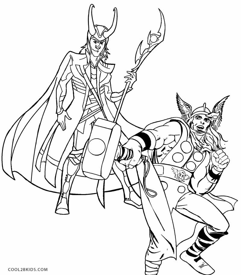 Thor Coloring Sheets For Boys  Printable Thor Coloring Pages For Kids