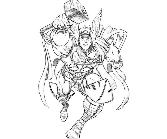 Thor Coloring Sheets For Boys  thor coloring page