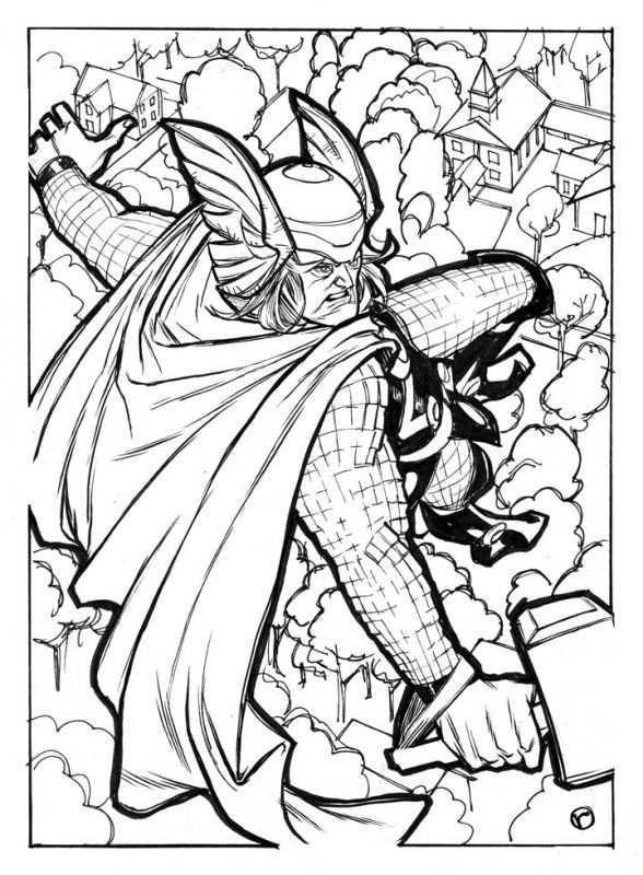Thor Coloring Sheets For Boys  165 best Superheroes Coloring Pages images on Pinterest